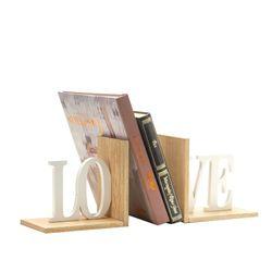 Apoya-Libros-Love-32-10-15Cm-Madera-Natural-Blanco----------