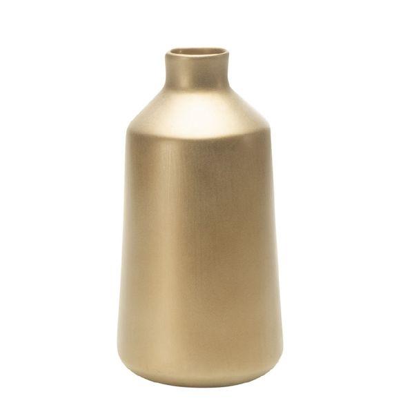 Florero-C20-Pompeya-13-13-25Cm-Ceramica-Dorado--------------