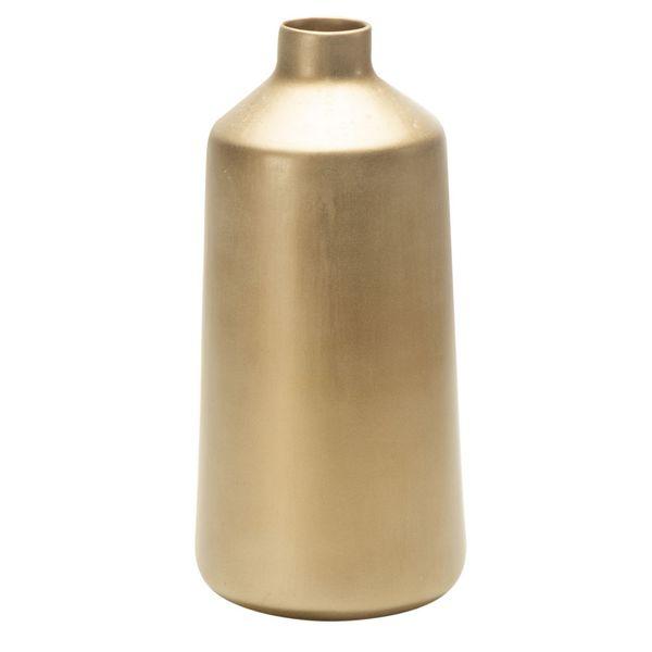 Florero-C20-Pompeya-15-15-32Cm-Ceramica-Dorado--------------