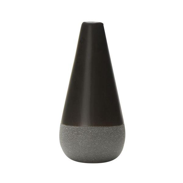 Florero-C1-20-Hamburgo-8-16.5Cm-Ceramica-Negro-Gris---------