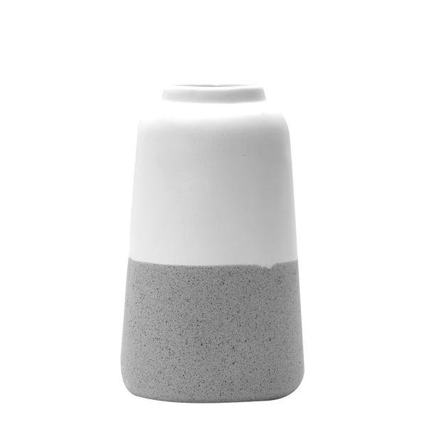 Florero-C1-20-Munich-11-19Cm-Ceramica-Blanco-Gris-----------