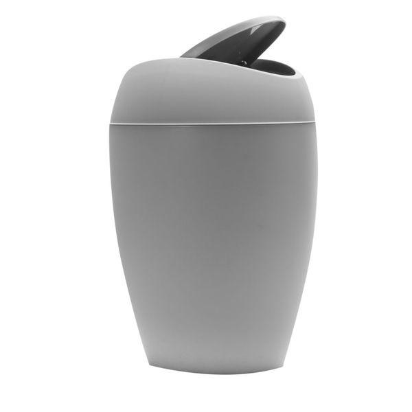 Papelera-Twirla-9L-25.4-38-22.8Cm-Plastico-Gris-------------