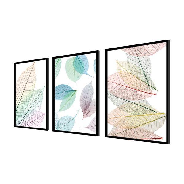 Set-3-Cuadros-Hojas-60-40-2.5-Cm-Colores-Varios