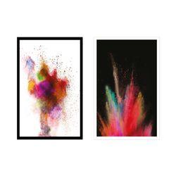 Set-2-Cuadros-Holi-65-45-2.5-Cm-Colores-Varios