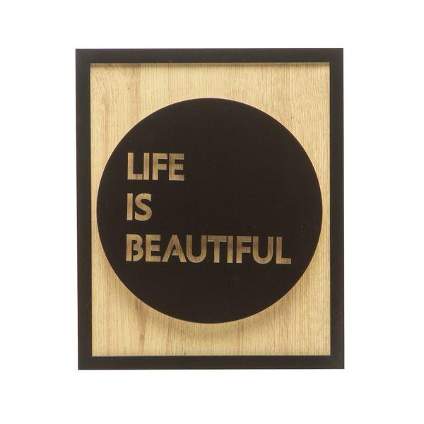 Cuadro-C20-Life-25-30Cm-Mdf-Natural-Negro-------------------