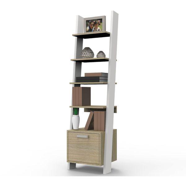 Biblioteca-Escalera-Bora--45-35-163.4-Mdf-Nat.-Rovere-Nevado