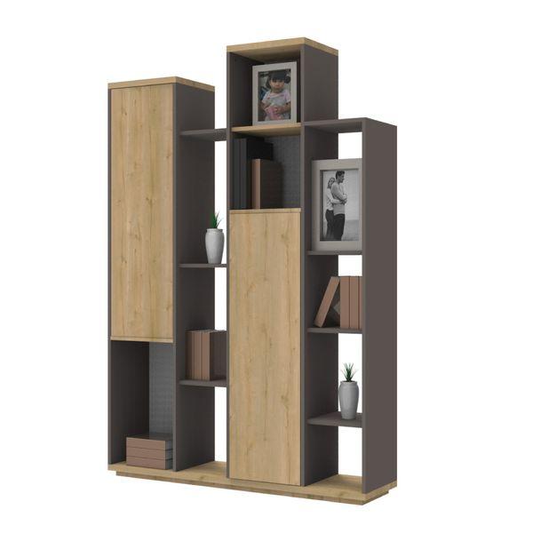 Biblioteca-Duna-178-30-120-Mdf-Natural-Rovere-Plomo---------