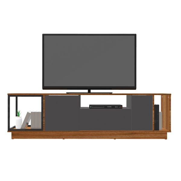 Carro-Tv-Cubo-176-40-50.3Cm-Hasta-65--Mdf-Natural-Miel-Plomo