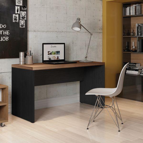 Escritorio-Studio-Sencillo-136-75-60Cm-Lam-Nogal-Argan-Negro