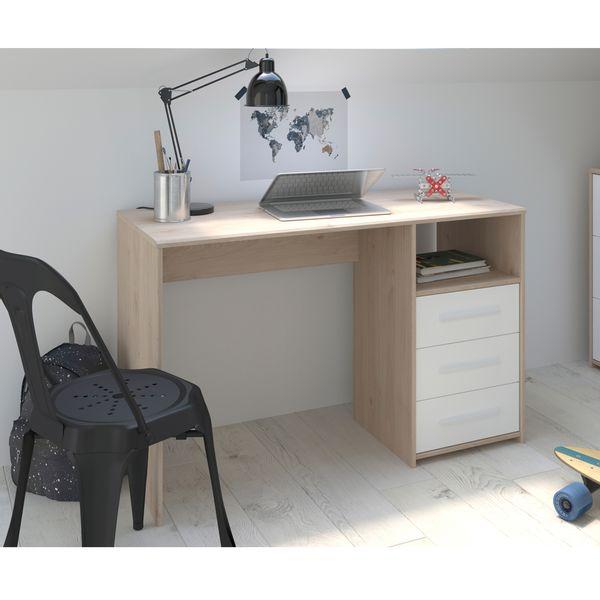 Escritorio-Finland-120-50-7Cm-Lam-Natural-Blanco------------