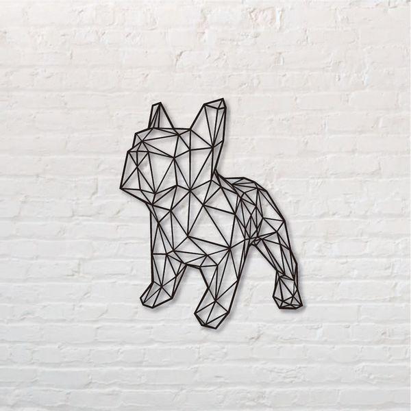 Cuadro-Bull-Dog-Frances-Cuerpo-50-50Cm-Mdf-Negro------------
