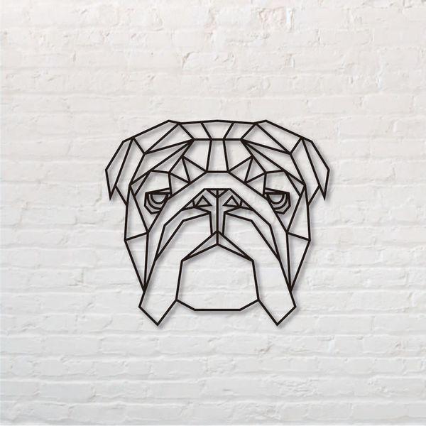 Cuadro-Bull-Dog-Ingles-50-50Cm-Mdf-Negro--------------------