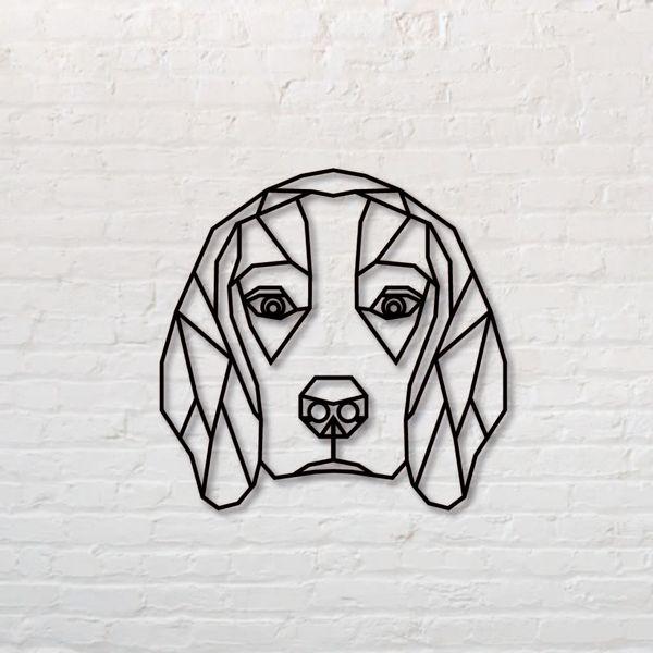 Cuadro-Beagle-50-50Cm-Mdf-Negro-----------------------------