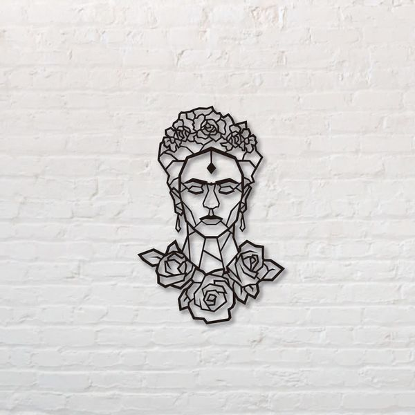 Cuadro-Frida-50-50Cm-Mdf-Negro------------------------------