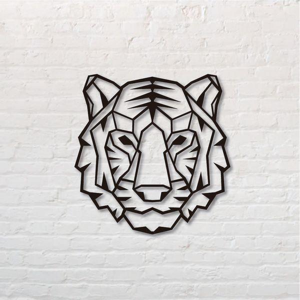 Cuadro-Tigre-50-50Cm-Mdf-Negro------------------------------