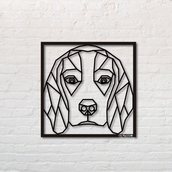 Cuadro-Beagle-50-50Cm-Metal-Negro---------------------------