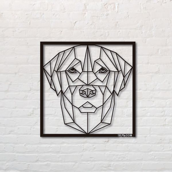 Cuadro-Labrador-50-50Cm-Metal-Negro-------------------------