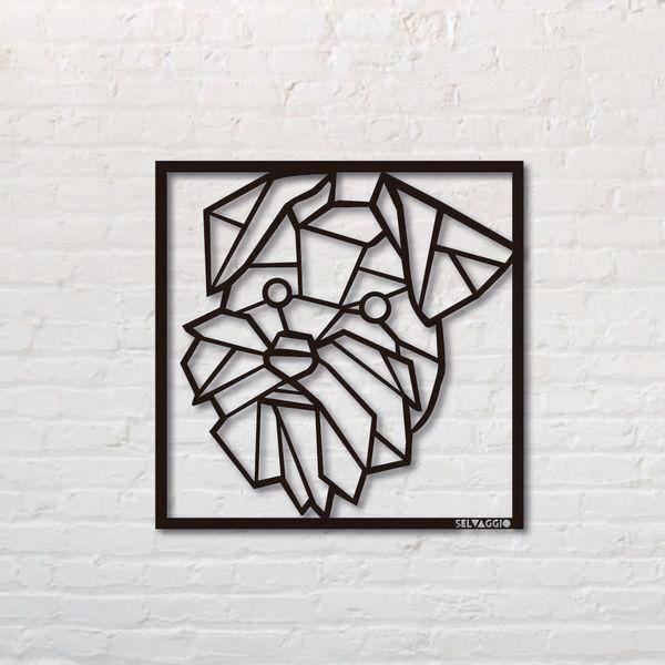 Cuadro-Shnauzer--50-50Cm-Metal-Negro------------------------