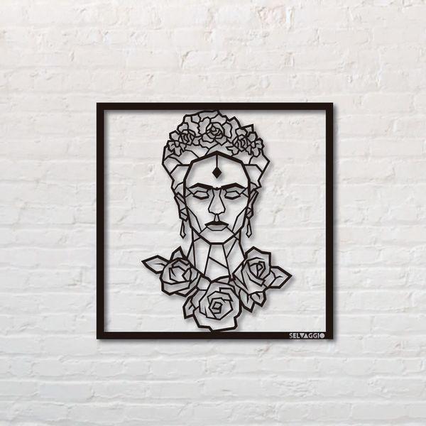 Cuadro-Frida--50-50Cm-Metal-Negro---------------------------