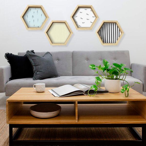 Repisa-Hexagonal-Beige-31-35-8-Cm-Amarillo