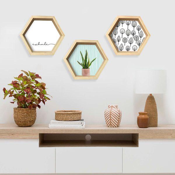 Repisa-Hexagonal-Hojas-31-35-8-Cm-Blanco