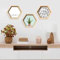 Repisa-Hexagonal-Azul-Ii-31-35-8-Cm-Azul
