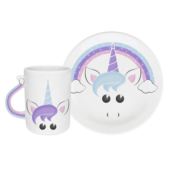 Set-2-Plato-Mug-Joy-Decorado-20-20-2-8-10Cm-Ceramica-Blanco-