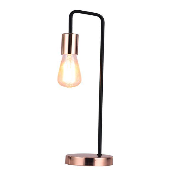 Lampara-De-Mesa-Lino-17-14-50Cm-Metal-Negro-Cobre-----------
