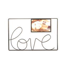 P-Retratos-C1-20-Love-35-24.5Cm-Metal-Negro-----------------