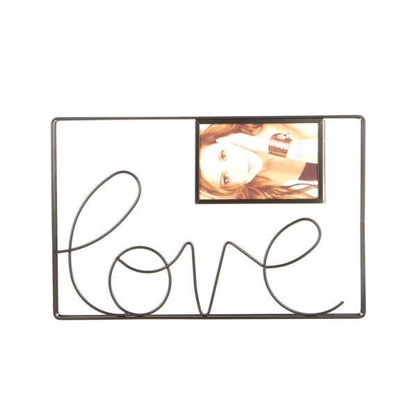 P-Retratos-C1-20-Love-35-24.5Cm-Metal-Negro-----------------