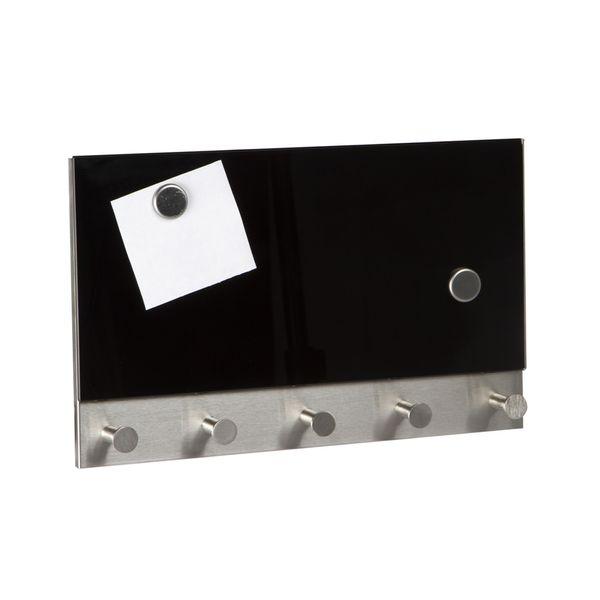 Perchero-Magnetico-Pared-30-5-19Cms-Negro-------------------