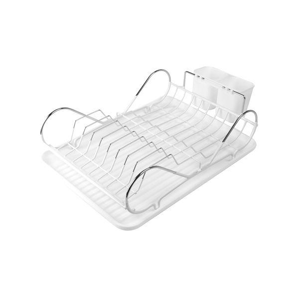 Escurridor-De-Platos-Clean-36-43-14Cm-Plastico-Metal-Blanco-