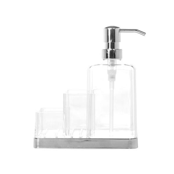 Dispensador-De-Jabon-Clarido-16-8-19Cm-Plastico-Transparente