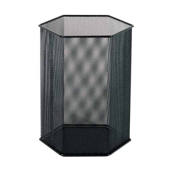 Papelera-Hexagonal-Office-20-20-30Cm-Met-Malla-Negro