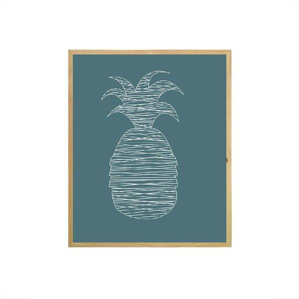 Cuadro-Stripes-Piña-53-43-2-Cm-Azul