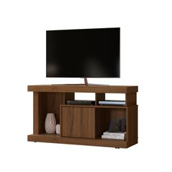 Carro-Tv-Sonido-Quartzo-125-40-66Cm-Lam-Nogal-Nogueira