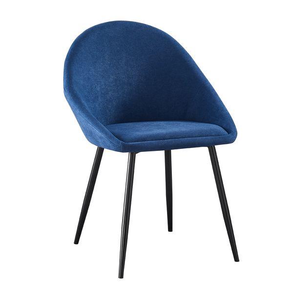 Silla-De-Comedor-Antonella-Tela-Azul---Metal-Negro