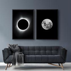 Set-2-Cuadros-Eclipse--Blanco-Negro
