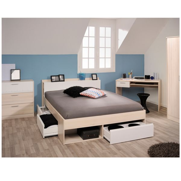Cama-Doble-Most-140-190Cm-Lam-Natural-Blanco----------------