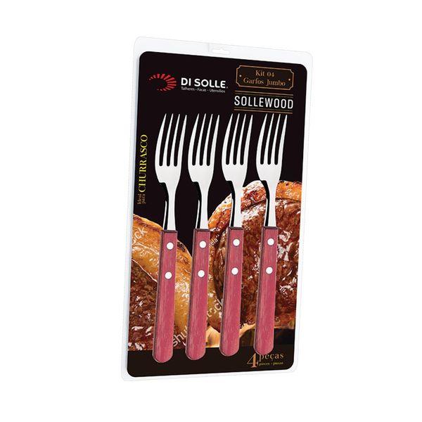 Set-4-Tenedores-Sollewood-Jumbo-Acero-Madera
