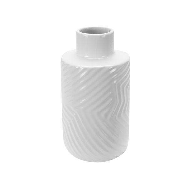 Florero-Zigzag-14-26cm-Blanco