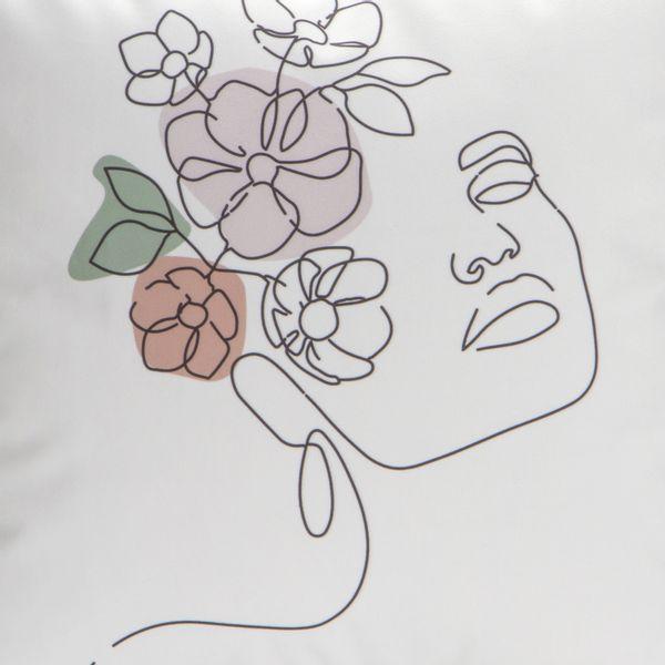 Funda-Cojin-Woman-Flowers-45-45-Cm