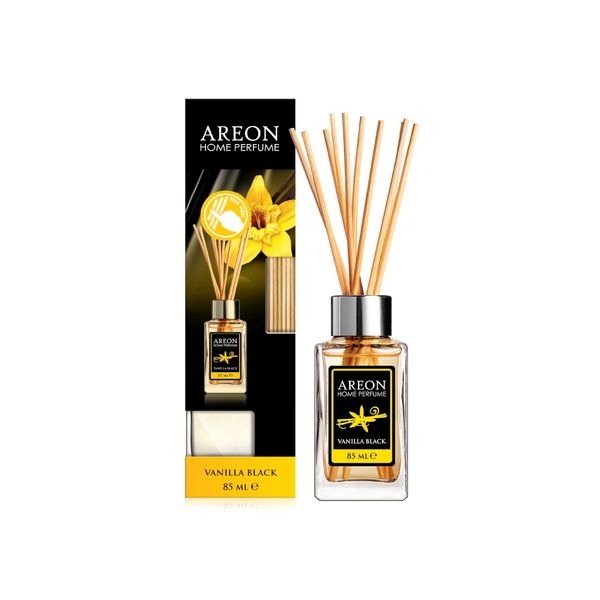 Difusor-85Ml-AREON-Home-Stick-Vainilla-Black