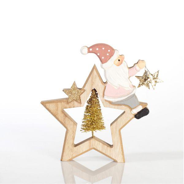 Navidad-Estrella-Santa-Sentado-Rosa-13-2-14.5Cm