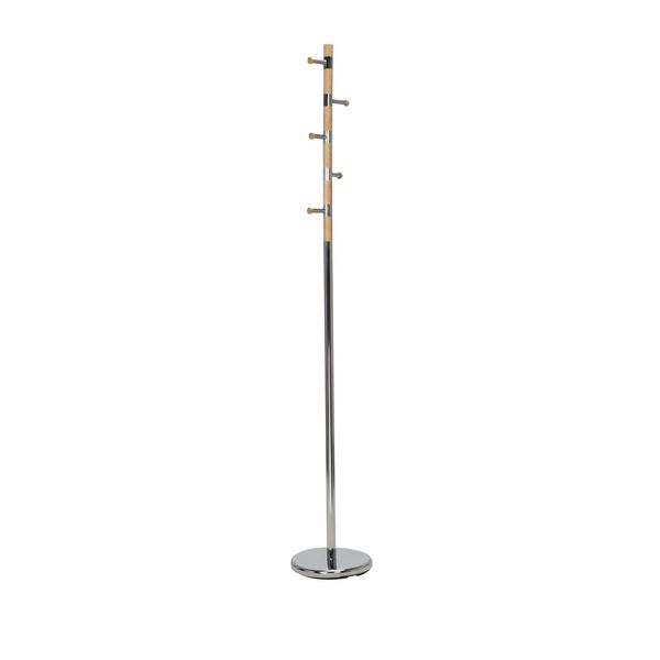Perchero-Piso-Coat-Rack-28-28-178Cm-Metal-Madera-Plata