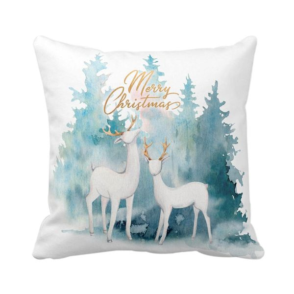 Navidad-C20-Funda-Cojin-Watercolor-Reindeers-45-45Cm-Poliest