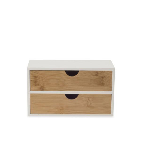 Caja-Organizadora-Doble-Berlin-20-10-11Cm-Natural-Blanco