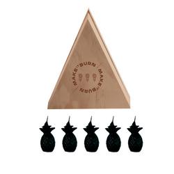 Set-5-Velas-Decorativas-Mini-Piña-Negro-Sin-Aroma
