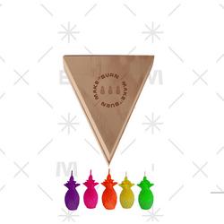 Set-5-Velas-Deco-Mini-Piña-Degrade-Verde-Amarillo-Sin-Aroma