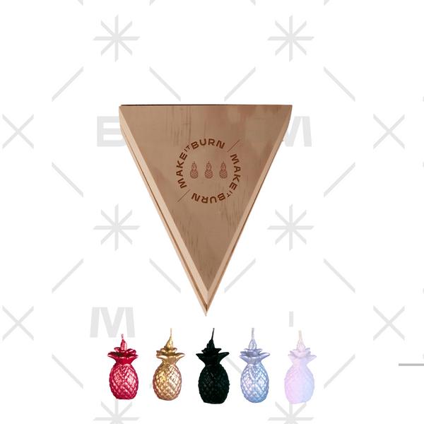 Set-5-Velas-Deco-Mini-Piña-Degrade-Naranja-Morado-Sin-Aroma